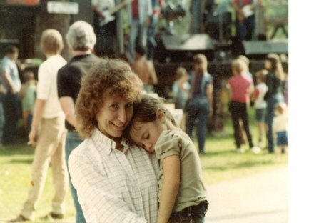 Mommy and me, circa 1984?