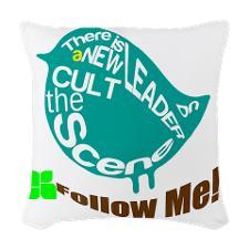 twitter_cult_leader_woven_throw_pillow